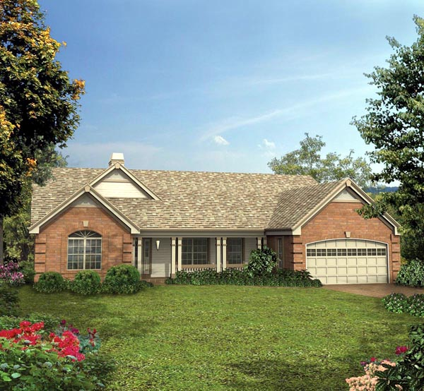 Country Ranch Traditional House Plan 87395 Elevation