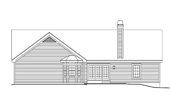 Country Ranch Traditional House Plan 87395 Rear Elevation