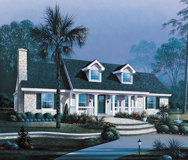 House plan 87396 at for Cape cod house numbers