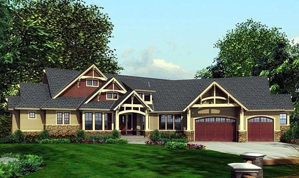 Craftsman House Plan 87400 Elevation
