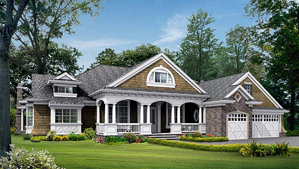 Cottage Country House Plan 87401 Elevation