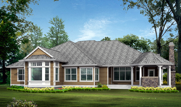 Cottage Country House Plan 87401 Rear Elevation