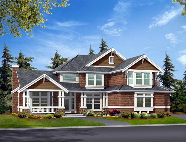 Elevation of Craftsman   House Plan 87402
