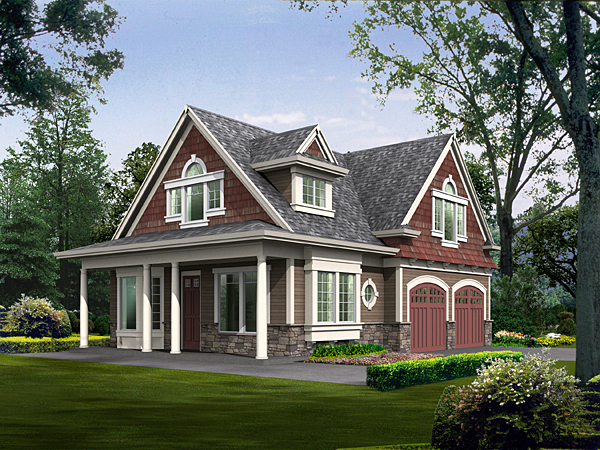 Elevation of Cottage   Country   House Plan 87406