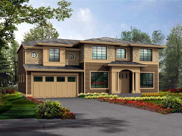 Prairie Style Southwest House Plan 87425 Elevation