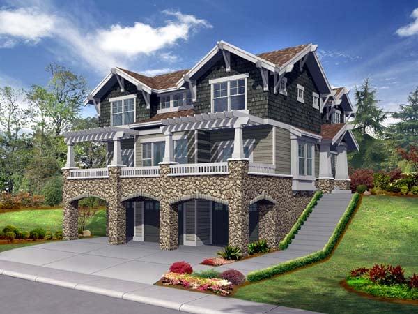House Plan 87440 Elevation