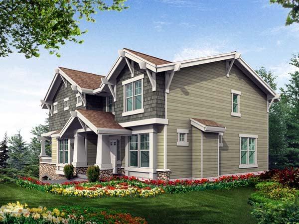House Plan 87440 Rear Elevation