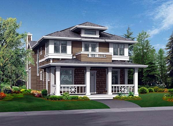 Craftsman House Plan 87447 Elevation