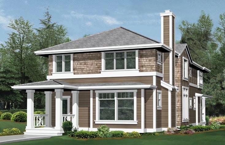 Craftsman House Plan 87447 Rear Elevation