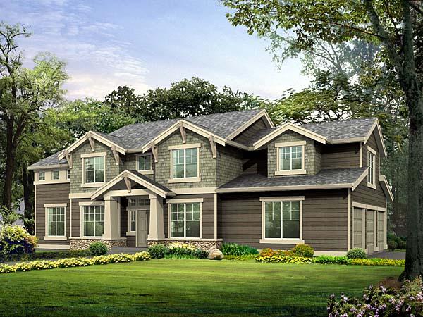 Craftsman House Plan 87450 Elevation