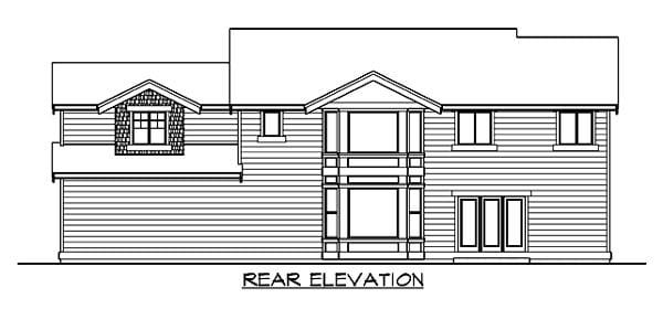 Craftsman House Plan 87450 Rear Elevation
