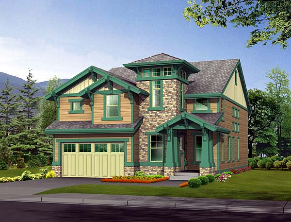 Bungalow Craftsman House Plan 87454 Elevation