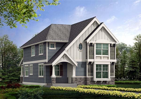 Craftsman Tudor House Plan 87463 Elevation