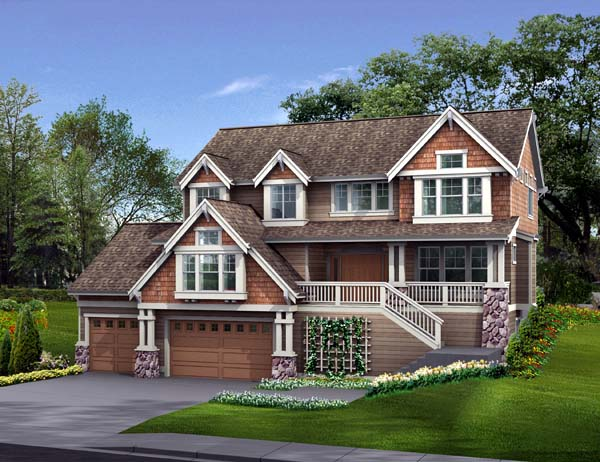Country Craftsman House Plan 87475 Elevation