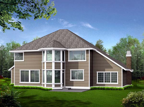 Country Craftsman House Plan 87481 Rear Elevation
