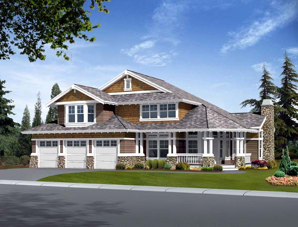 Country Craftsman House Plan 87482 Elevation