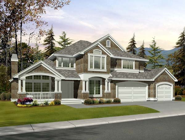 Country Craftsman House Plan 87485 Elevation