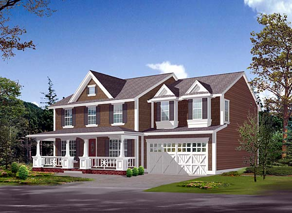 Country House Plan 87529 with 4 Beds, 4 Baths, 3 Car Garage Elevation