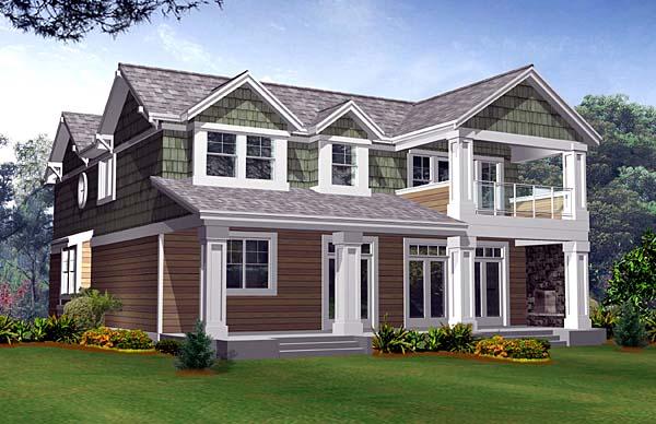 Craftsman House Plan 87539 Rear Elevation