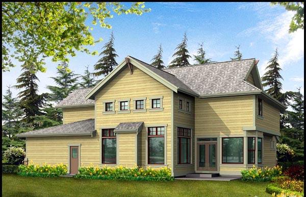 Contemporary Farmhouse House Plan 87550