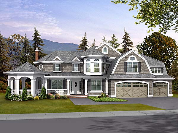 Victorian House Plan 87569 Elevation
