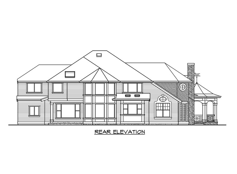 Victorian House Plan 87569 Rear Elevation