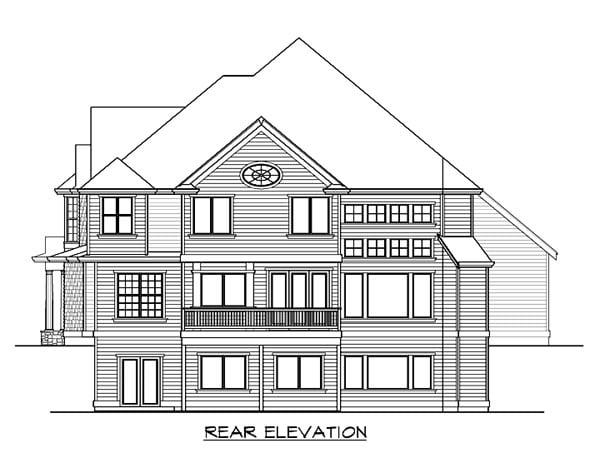 Farmhouse Victorian House Plan 87572 Rear Elevation