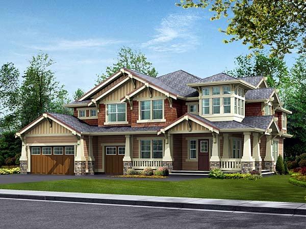 Bungalow Craftsman House Plan 87573 Elevation