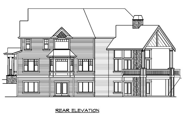Country Victorian House Plan 87579 Rear Elevation