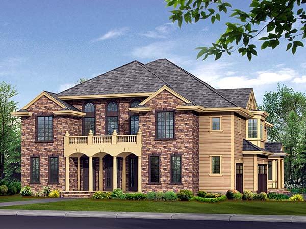 European Traditional House Plan 87580 Elevation
