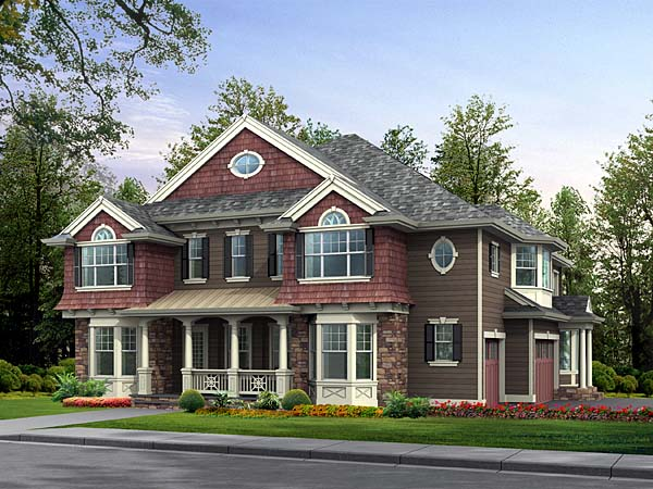 Colonial Country Traditional House Plan 87582 Elevation