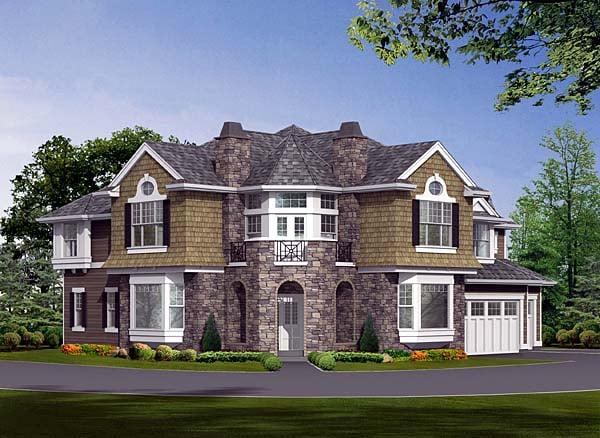 Cape Cod Craftsman Victorian House Plan 87584