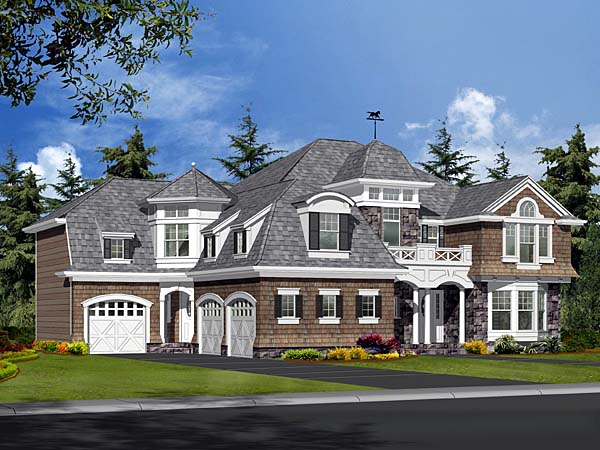 Colonial European Tudor Victorian House Plan 87598 Elevation