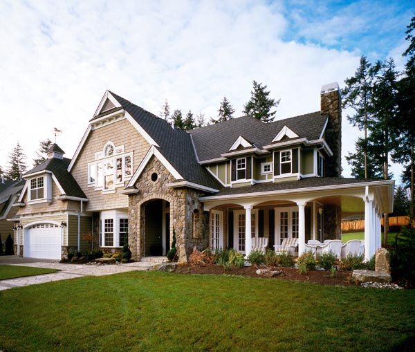 House plan 87606 at for Craftsman luxury homes