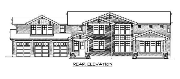 Craftsman House Plan 87634 Rear Elevation
