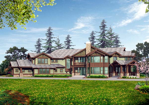 Contemporary House Plan 87637 with 4 Beds, 6 Baths, 3 Car Garage Elevation