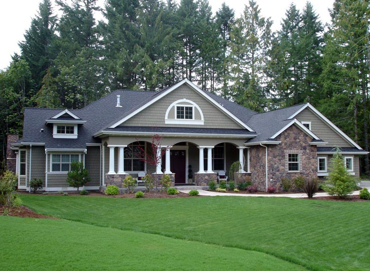 Country Craftsman House Plans | House Plan 87646 At Familyhomeplans Com