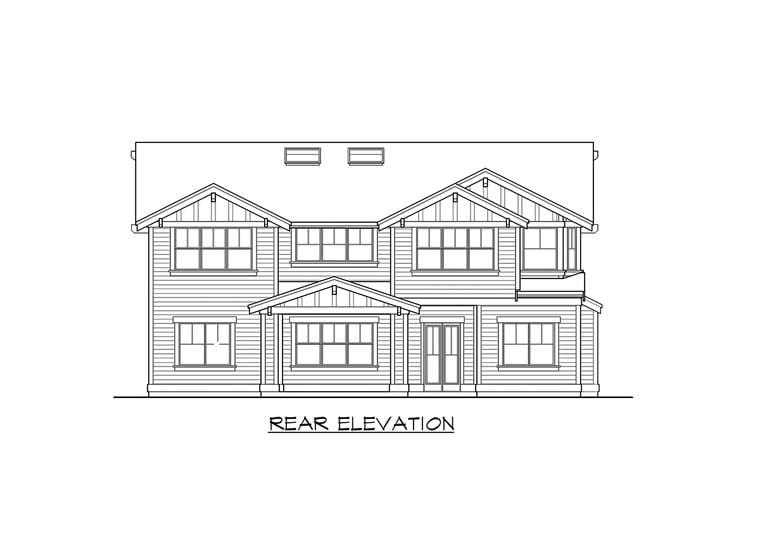 Craftsman House Plan 87671 Rear Elevation