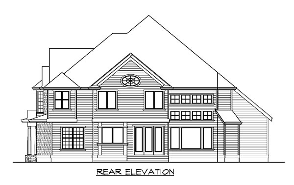 Farmhouse Victorian House Plan 87679 Rear Elevation