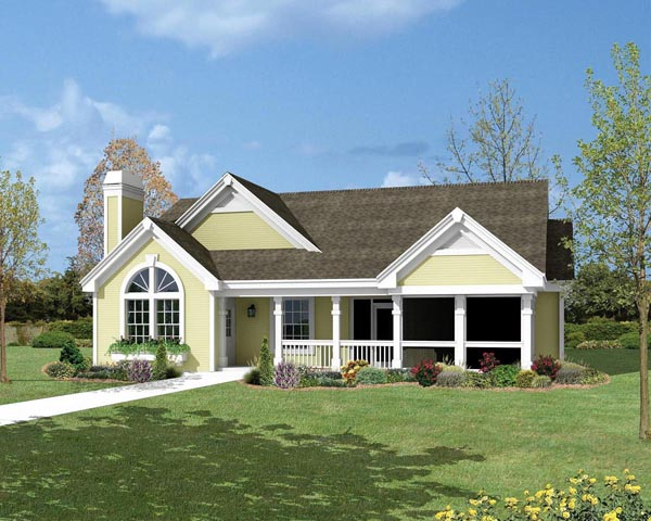 Cottage Country Ranch Traditional House Plan 87800 Elevation
