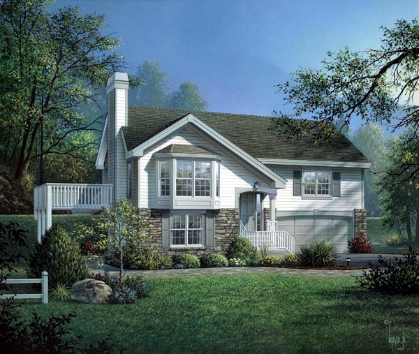 Country, Traditional House Plan 87801 with 4 Beds, 3 Baths, 2 Car Garage Elevation