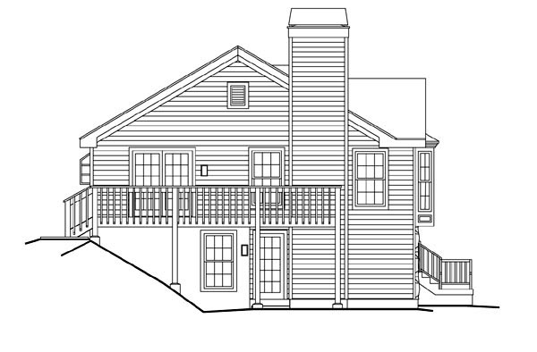 Country, Traditional House Plan 87801 with 4 Beds, 3 Baths, 2 Car Garage Picture 1