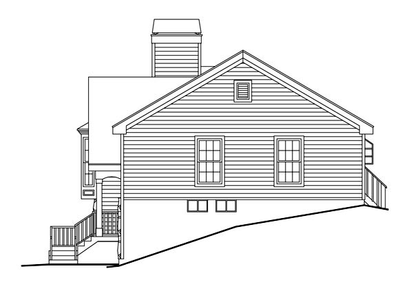 Country, Traditional House Plan 87801 with 4 Beds, 3 Baths, 2 Car Garage Picture 2