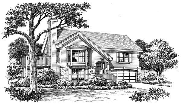 Country, Traditional House Plan 87801 with 4 Beds, 3 Baths, 2 Car Garage Picture 3