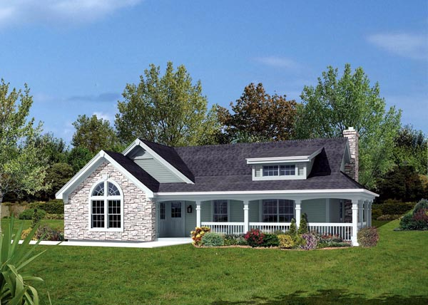 Bungalow, Country, Ranch House Plan 87806 with 2 Beds, 1 Baths, 2 Car Garage Elevation