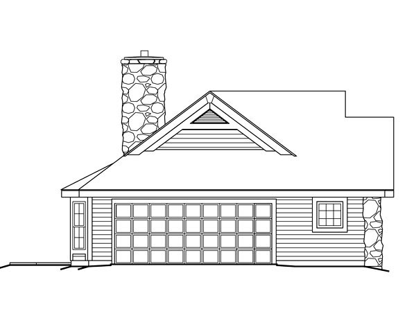 Bungalow, Country, Ranch House Plan 87806 with 2 Beds, 1 Baths, 2 Car Garage Picture 1