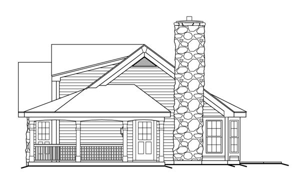 Bungalow, Country, Ranch House Plan 87806 with 2 Beds, 1 Baths, 2 Car Garage Picture 2
