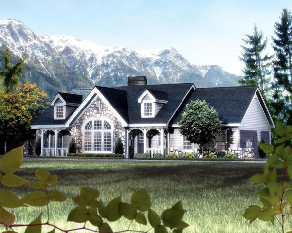 Great Cape Cod Cottage Country Ranch Victorian House Plan 87808 Elevation