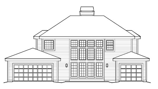 Colonial Country Traditional House Plan 87812 Rear Elevation