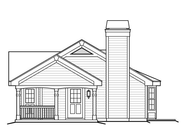 Cottage, Country, Ranch House Plan 87813 with 1 Beds, 1 Baths, 1 Car Garage Picture 2